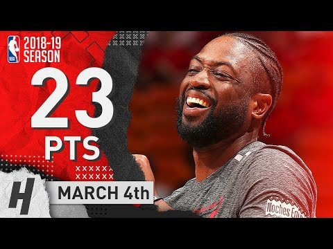 Dwyane Wade Full Highlights Heat vs Hawks 2019.03.04 - 23 Points, CLUTCH!