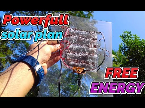 How to make a free Energy powerful solar plan With Mirror Glass