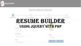 Resume Builder Using Php