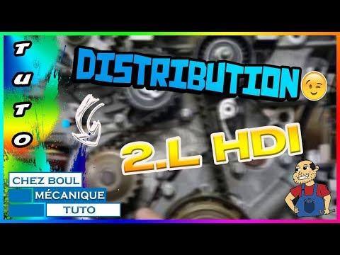 Tuto► remplacer sa  courroie de distribution  2L hdi ★  Tuto YouTube ★