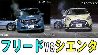 【ホンダ 新型フリード vs トヨタ シエンタ】衝突安全 ライバル比較!