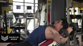 MUSCLEMESH Egzersizleri Incline Dumbell Fly - Göğüs