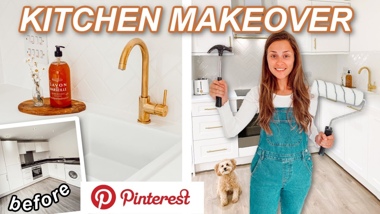 THE KITCHEN MAKEOVER!! *Before & After* Pinterest Inspired Transformation!