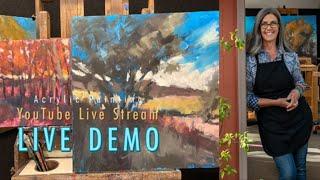 Free Demo! In Progress Acrylic Paintings!