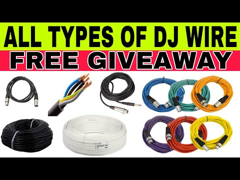 ALL TYPES OF DJ CABLES 4 CORE, 2 CORE, MIC WIRE, CAMERA WIRE, XLR WIRE, JACK WIRE