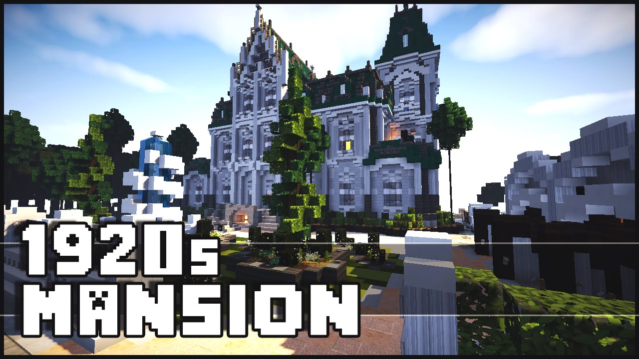 Minecraft 1920 S Mansion Youtube