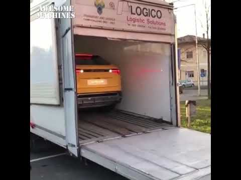 Lamborghini Urus on the road startup