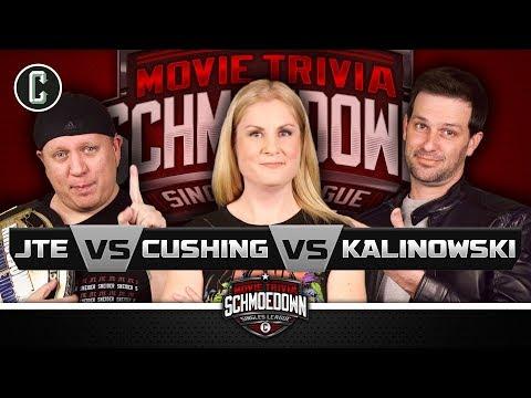 JTE VS Rachel Cushing VS Mike Kalinowski: #1 Contender Triple Threat Match - Movie Trivia Schmoedown