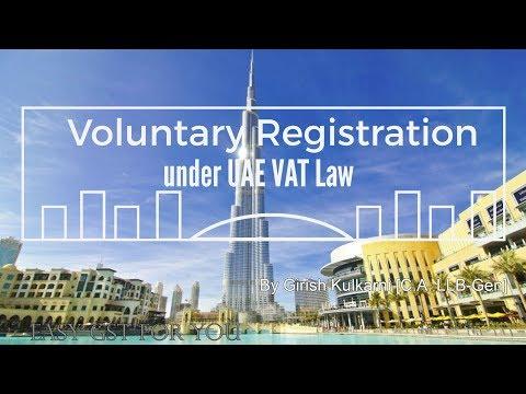 Voluntary Registration under UAE VAT Law