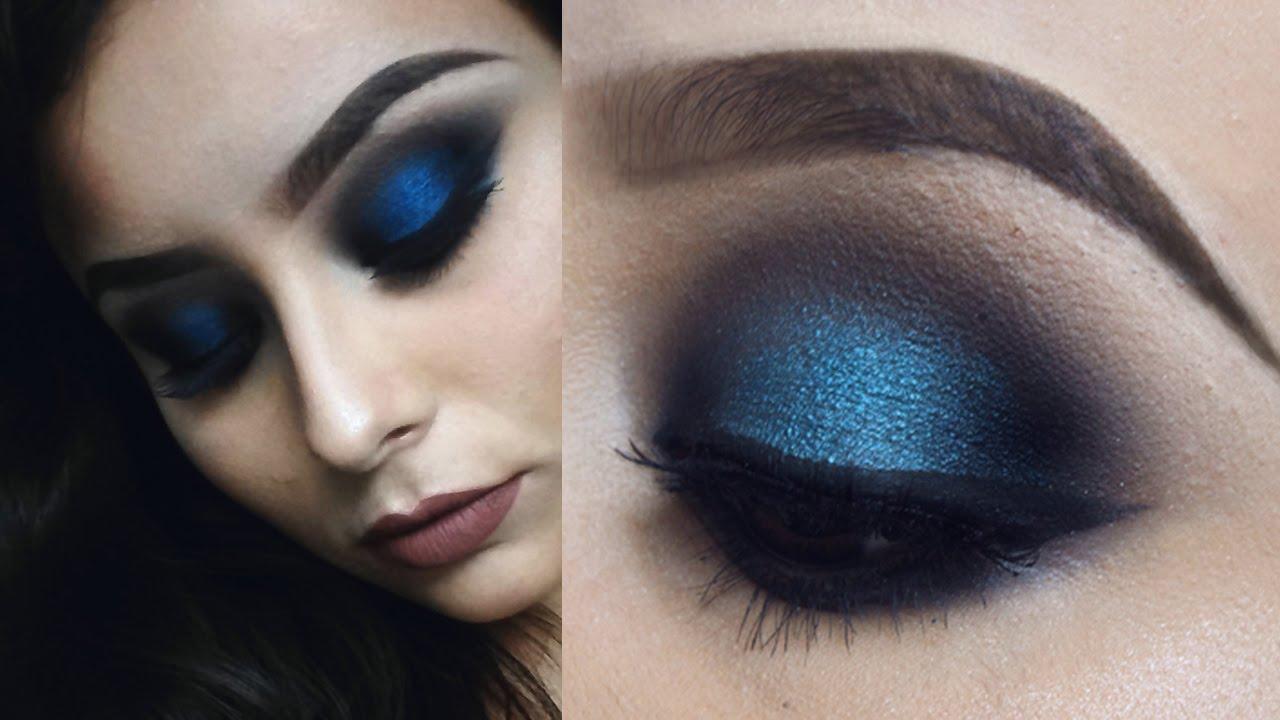 Resultado de imagem para smokey eyes azul