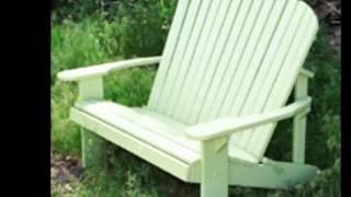 Adirondack Garden Benches