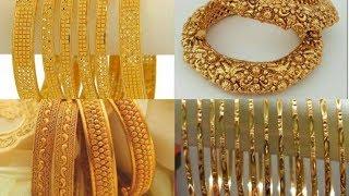 Beautiful and stylish gold bangles by mehr malik fashion n beauty