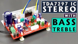 TDA7297 IC with Bass Treble Controller Stereo Audio Amplifier Board DIY | Hindi | ELECTRO INDIA