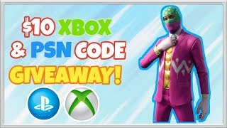 $10 Playstation & Xbox Code Giveaway! (ended) - NEW Hopper Skin! - Fortnite Live Stream!