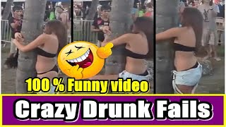 Try Not To Laugh | Funny Drunk People Fails Compilation (#3) Drunk Girl Fails 2019