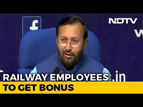 Cabinet Approves Bonus For Railway Employees: Prakash Javadekar