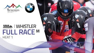 Whistler | BMW IBSF World Championships 2019 - 4-Man Bobsleigh Heat 1 | IBSF Official