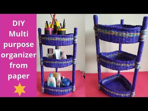 DIY Multipurpose organizer || kitchen/ corner stand organizer || paper craft || Iris Craft Corner 32