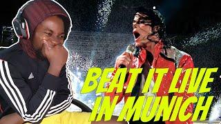 Michael Jackson Beat It Live In Munich (REACTION!!!)