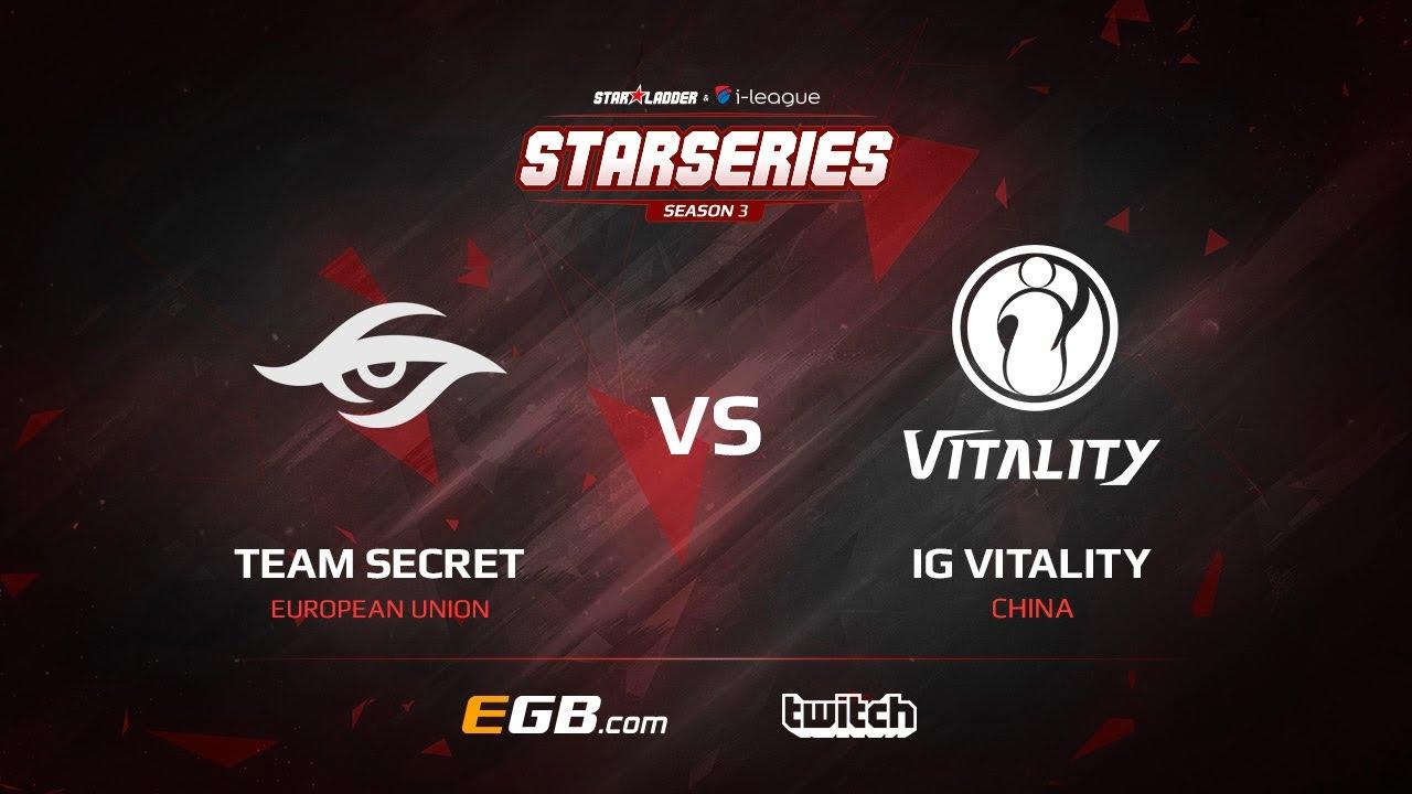 Team Secret vs IG Vitality, Game 1, SL i-League StarSeries Season 3, LAN-Final