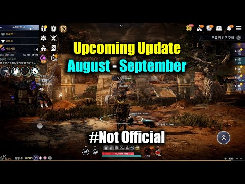 Black Desert Mobile Upcoming Update August to September Not Official