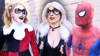 sPIDER-MAN vs BLACK CAT!! Real Life Superhero Movie - TheSeanWardShow