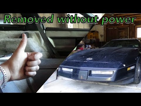 1985 corvette part 7 - driver seat removed with no power