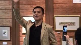 俳優の榎木孝明さんが2008年、鹿児島県鹿屋市のバラ園へスケッチ大...