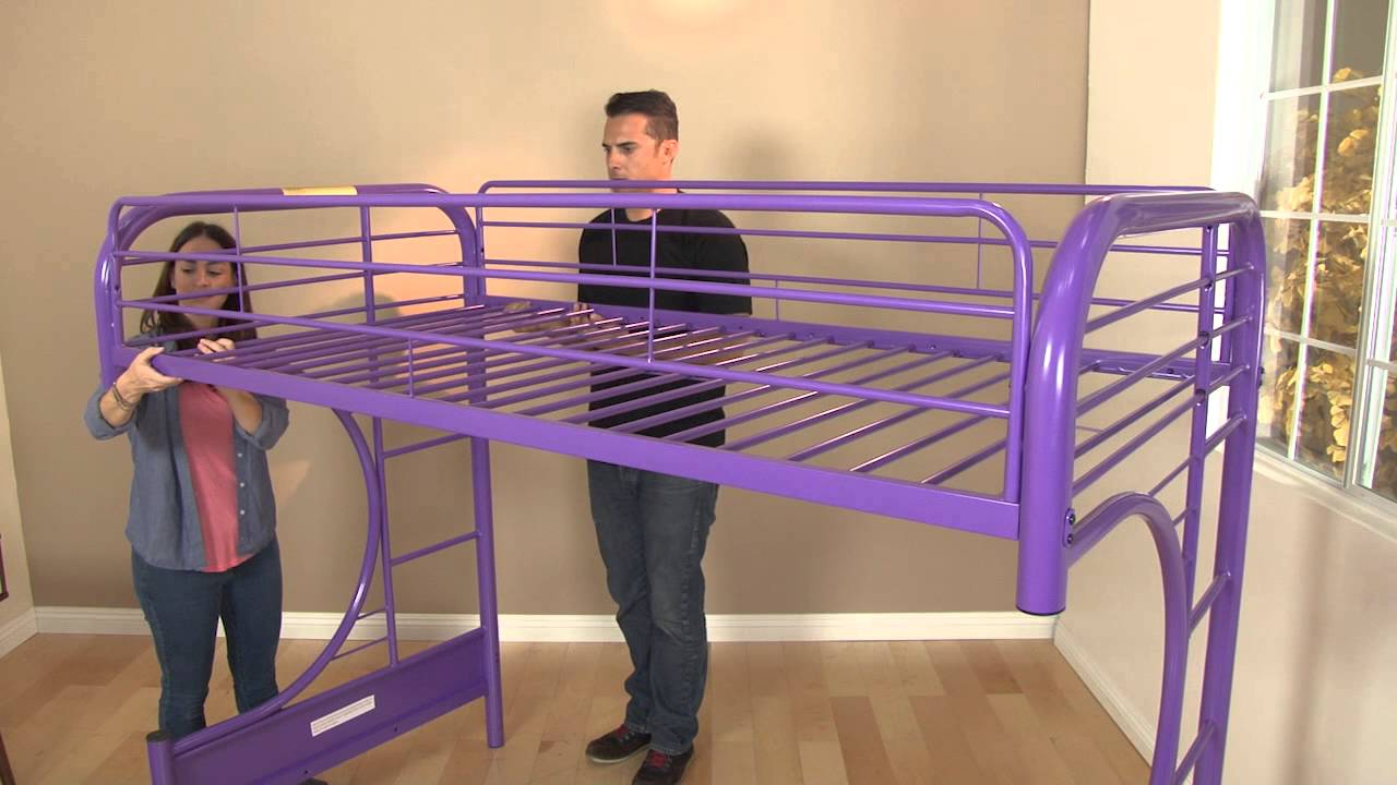 Eclipse Twin Full Futon Bunk Bed Assembly Video Youtube