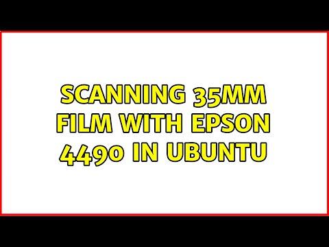 Ubuntu: Scanning 35mm Film With Epson 4490 In Ubuntu