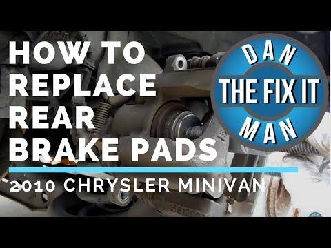 REPLACING REAR BRAKE PADS – 2010 Chrysler Town & Country – DIY
