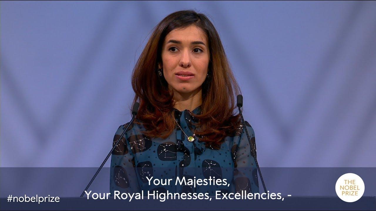 6eafdf1d14de Nadia Murad  Nobel Peace Prize lecture 2018 (English subtitles ...