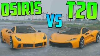 PROGEN T20 vs PEGASSI OSIRIS - Test de Velocidad - El Coche Mas Rápido de GTA V Online PS4
