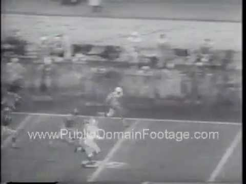 1957 Baltimore Colts lose to Los Angeles Rams Newsreel PublicDomainFootage.com