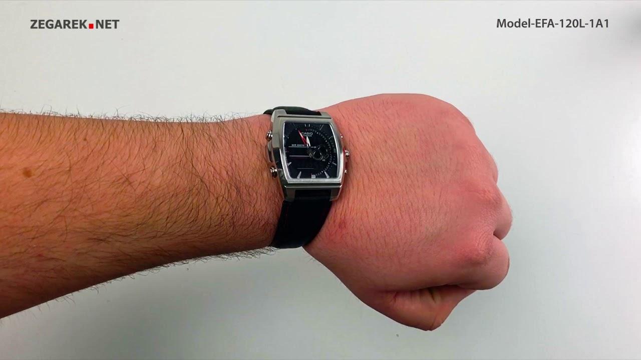 ff6766306d982e Casio EFA-120L-1A1 zegarek męski - Sklep ZEGAREK.NET