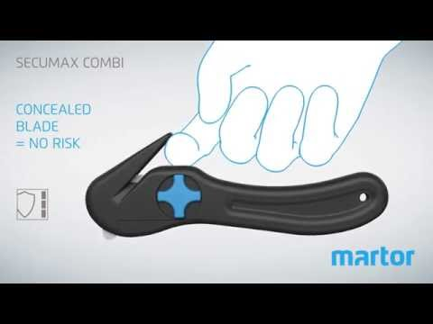 Safety knife MARTOR SECUMAX COMBI product video GB
