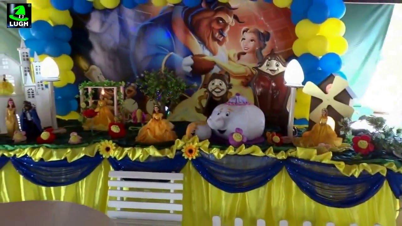 A Bela e a Fera Decoraç u00e3o para festa temática de aniversário infantil YouTube