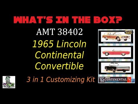 What's in the Box? AMT 1965 Lincoln Continental Model Kit Unboxing Review