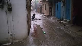 Ramadan First Raining In Rawalpindi Also Air Storm Second Floor Bricks Wall Fall Down