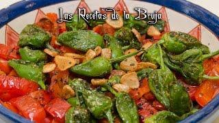 ENSALADA DE TOMATES CHERRY CON PIMIENTOS DEL PADRÓN - Recetas de cocina fáciles, ligeras y sabrosas