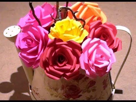 comment faire des roses en papier facile diy paper roses youtube. Black Bedroom Furniture Sets. Home Design Ideas
