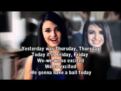 Rebecca Black - Friday (Karaoke with Background Vocals) + lirycs