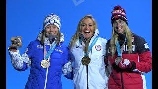 2018 平昌 PyeongChang Snowboard Women's Slopestyle Medal Ceremony Jamie Anderson