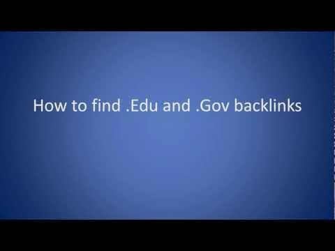 SEO Tip - How to build .Edu and .Gov Backlinks
