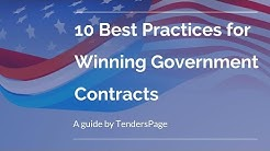 Government contract jobs -10 Best Practices for Winning Government Contract Jobs -  TendersPage