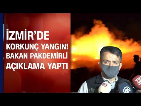 İzmir'de korkutan yangın! Saatlerdir müdahale sürüyor! Bakan Pakdemirli açıklama yaptı