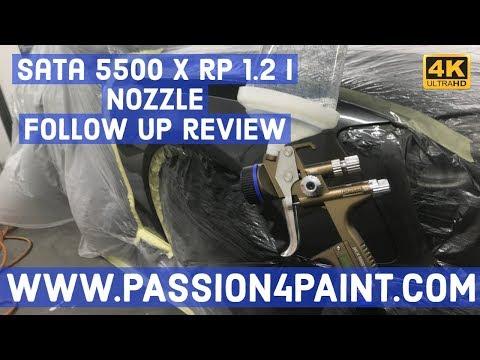 SATA JET 5500 X RP Digital 1.2 I Nozzle Spray Gun Follow Up Review