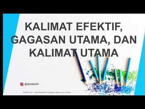 TWK BAHASA INDONESIA - Kalimat Efektif, Gagasan Utama (Ide Pokok), & Kalimat Utama