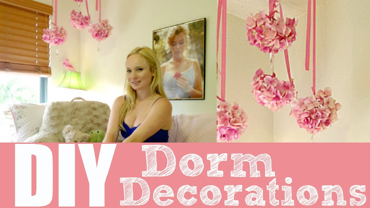 Dorm Room Decorations - Flower Chandelier | by Michele Baratta - YouTube