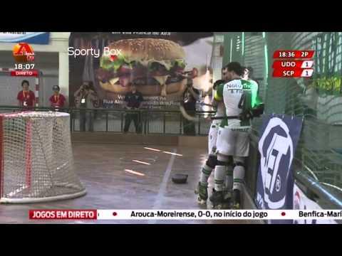 Hoquei Patins :: Sporting - 4 x Oliveirense - 1 de 2014/2015 - 1/2 Final Taça de Portugal